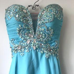 Tiffany Designs Light Blue Prom Dress